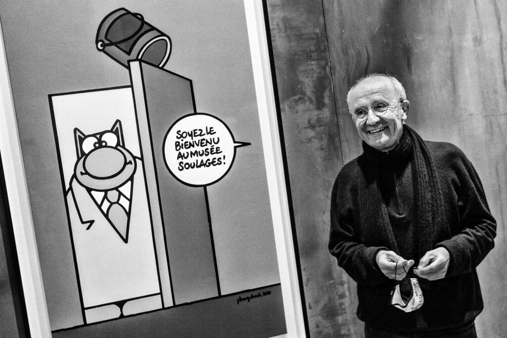 Philippe Geluck au musée Soulages