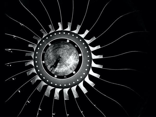 Dans le vent Soufflante d'un moteur d'avion pour l'aviation régionale