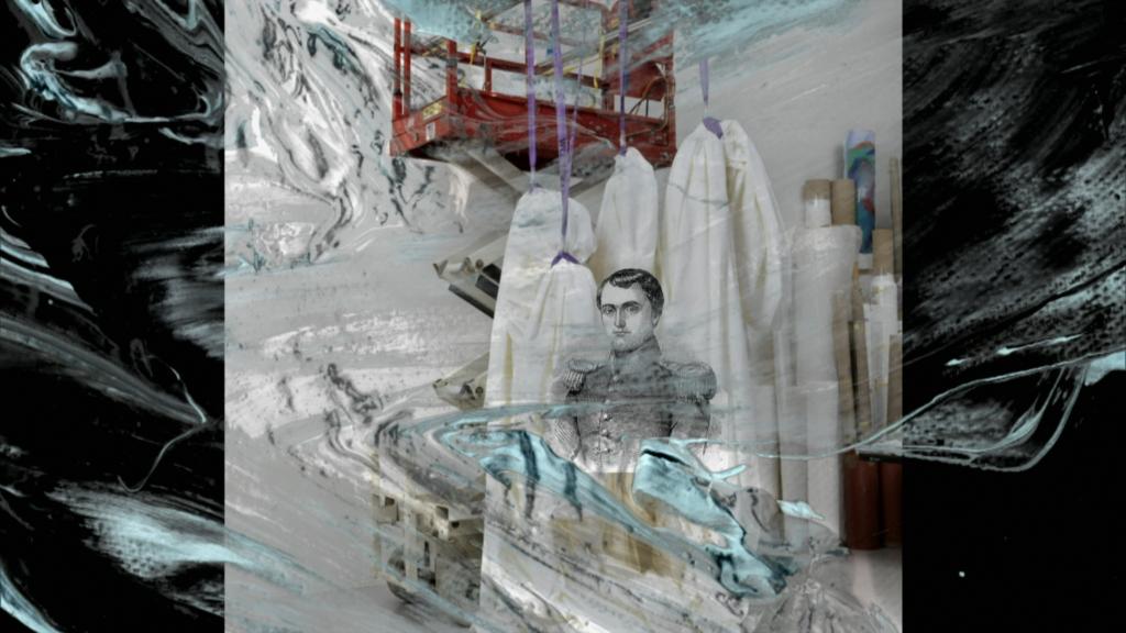 Alexander Kluge, Napoléon sur un pont élévateur à ciseaux, 2020