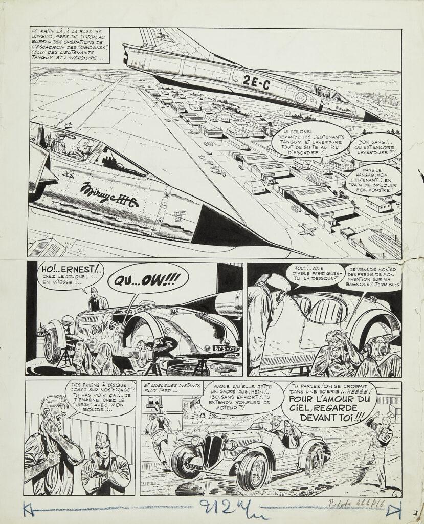 Albert Uderzo, Tanguy et Laverdure, journal Pilote, 1966