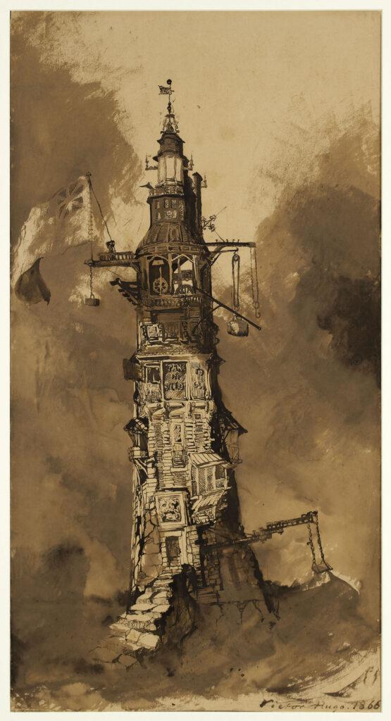 """Victor Hugo, """"Le Phare d'Eddystone"""", 1856."""