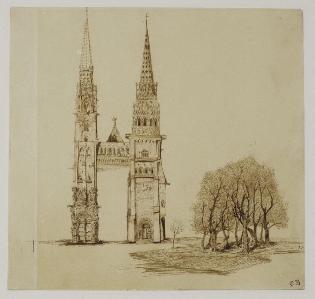 """Victor Hugo, """"Tours et flèches d'une cathédrale gothique"""""""