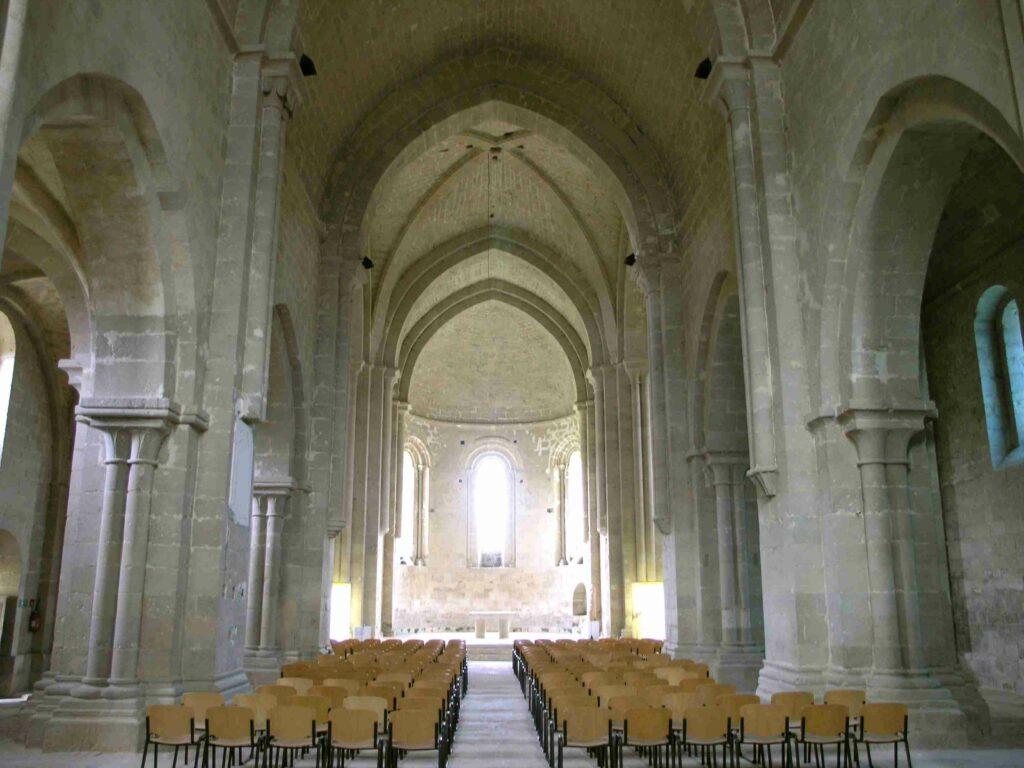 Vue intérieure de l'Abbaye de Flaran