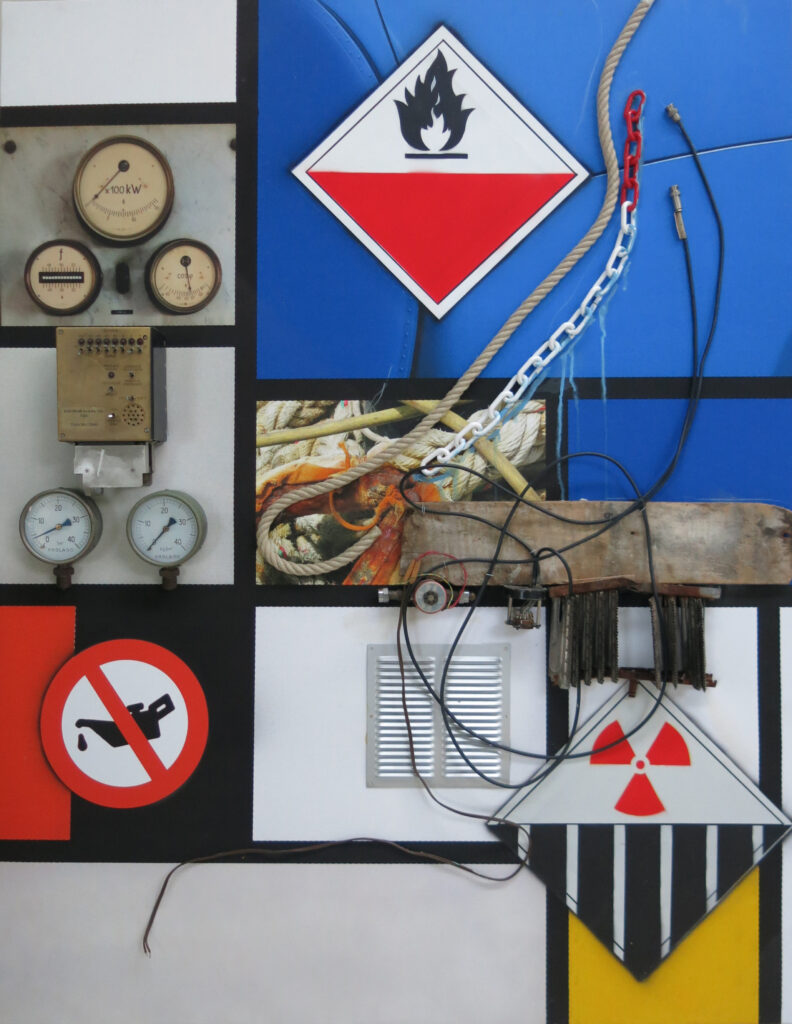 Peter Klasen, Hommage à Mondrian