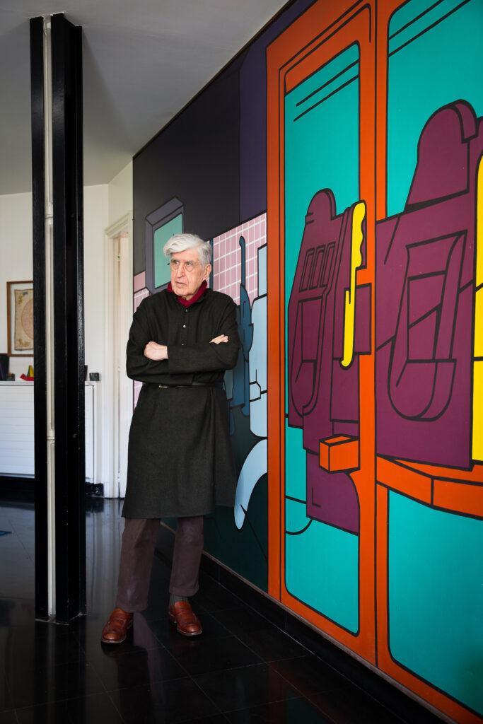 Valerio Adami dans sa maison atelier de Paris, octobre 2020