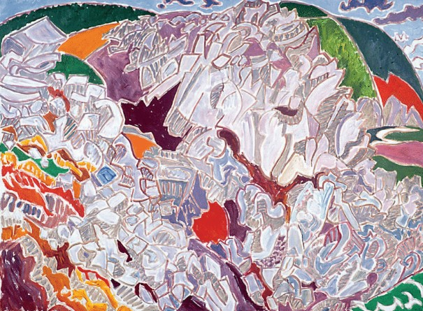 Henri Landier, Falaises à Saint-Hernot, 1996
