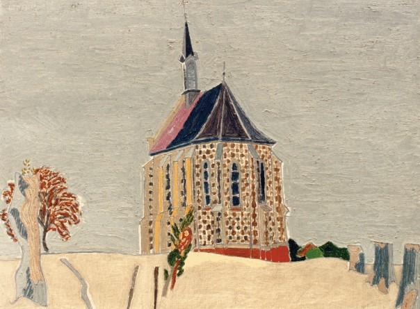 Henri Landier, La chapelle des marins au Crotoy, 1989