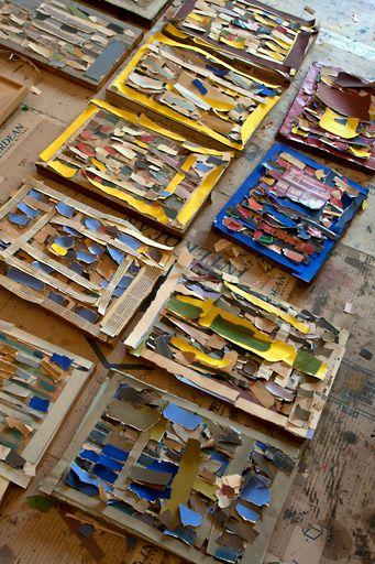 Le sol de l'atelier de Jean-Michel Coulon découvert après sa mort en 2014