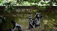 banksy we re all in the same boat
