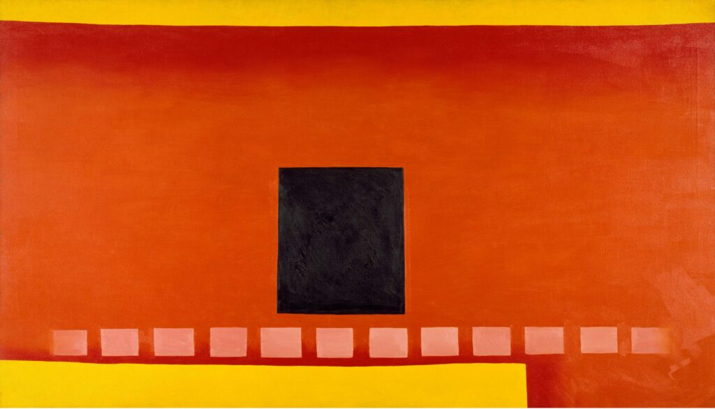 Georgia O'Keeffe, Black Door with Red, 1954