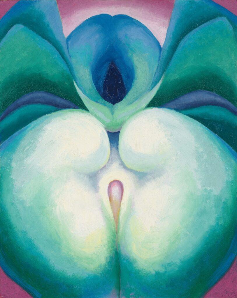 Georgia O'Keeffe, Series I White & Blue Flower Shapes, 1919