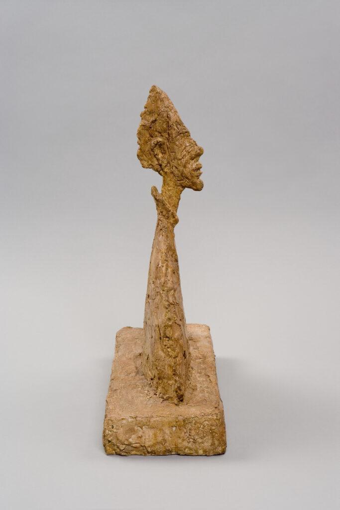 Alberto Giacometti, Buste mince sur soclae dit Amenophis, 1954