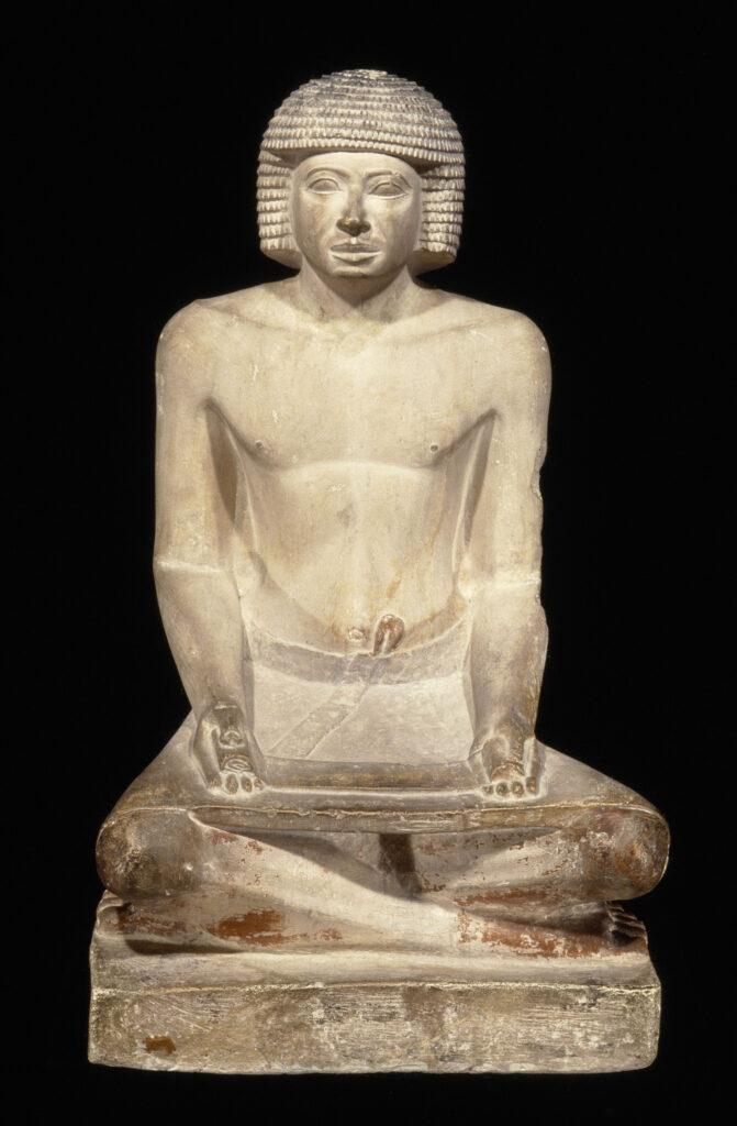 Statue d'homme dans l'attitude d'un scribe