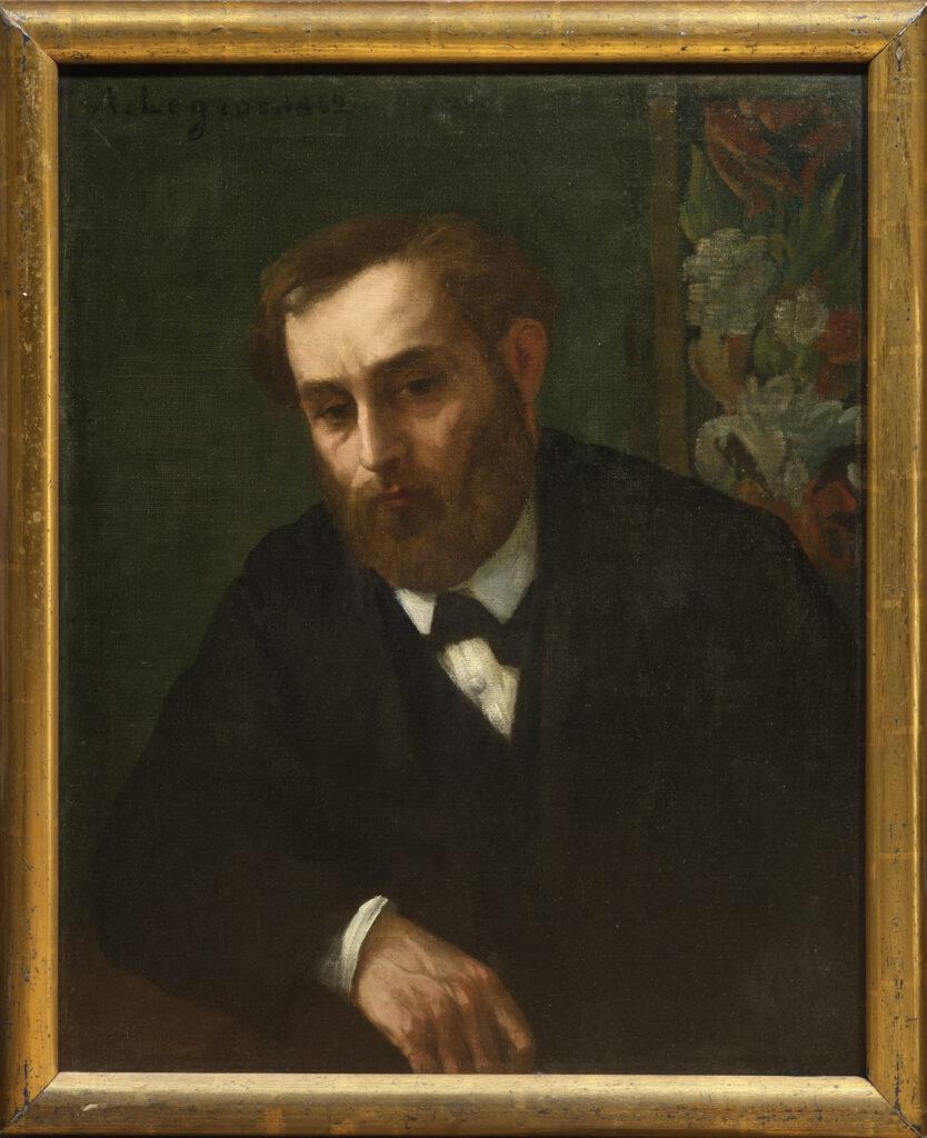 Alphonse Legros, Portrait présumé d'Eugène Manet, 1862