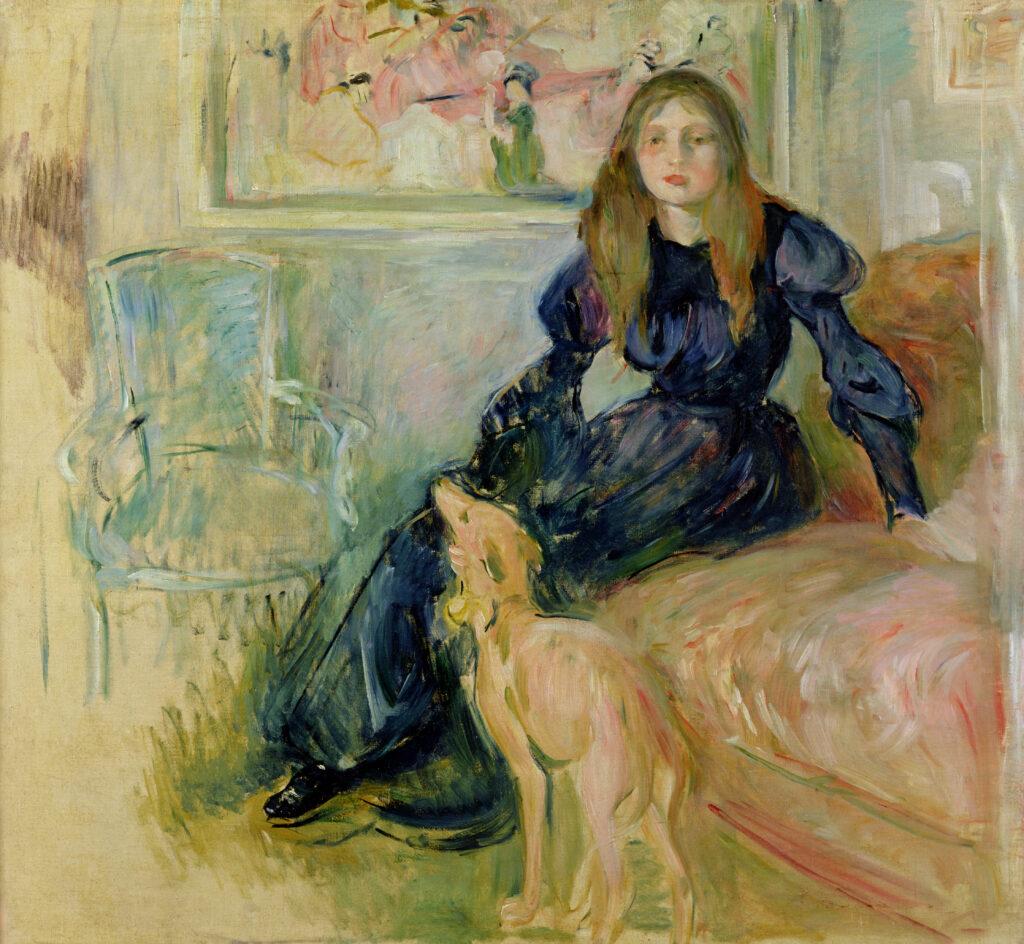 Berthe Morisot, Jeune fille au lévrier ou Julie Manet et sa levrette Laerte, 1893
