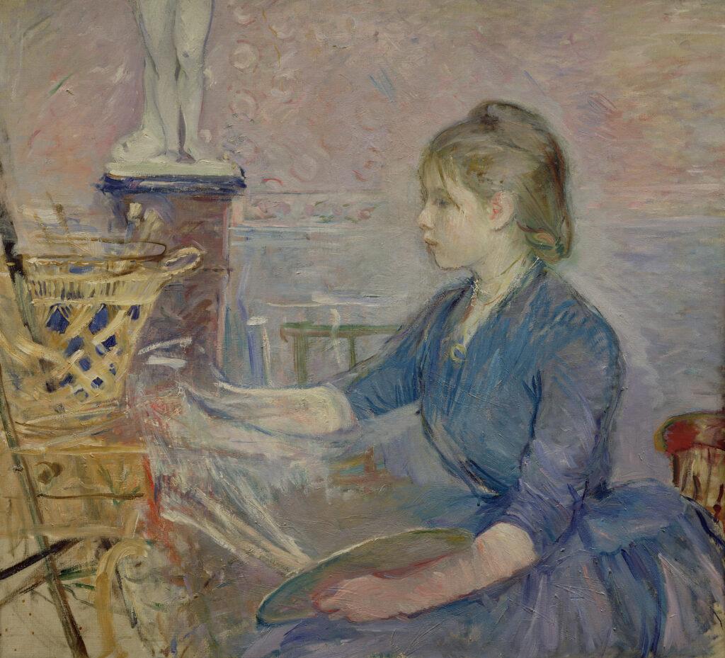 Berthe Morisot, Paule Gobillard peignant, 1887