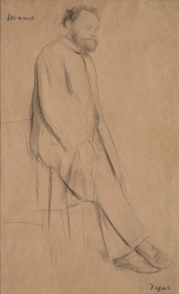 Edgar Degas, Portrait d'Edouard Manet, vers 1866-1868