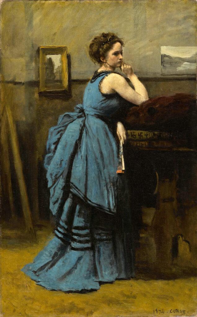 Jean-Baptiste Camille Corot, La dame en bleu, 1874