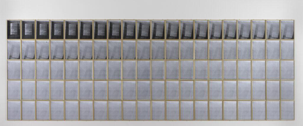 Timm Ulrichs, Walter Benjamin. L'oeuvre d'art à l'ère de sa reproductibilité techniqueInterpretation par Timm Ulrichs : La photocopie de la photocopie de la photocopie de la photocopie, 1967