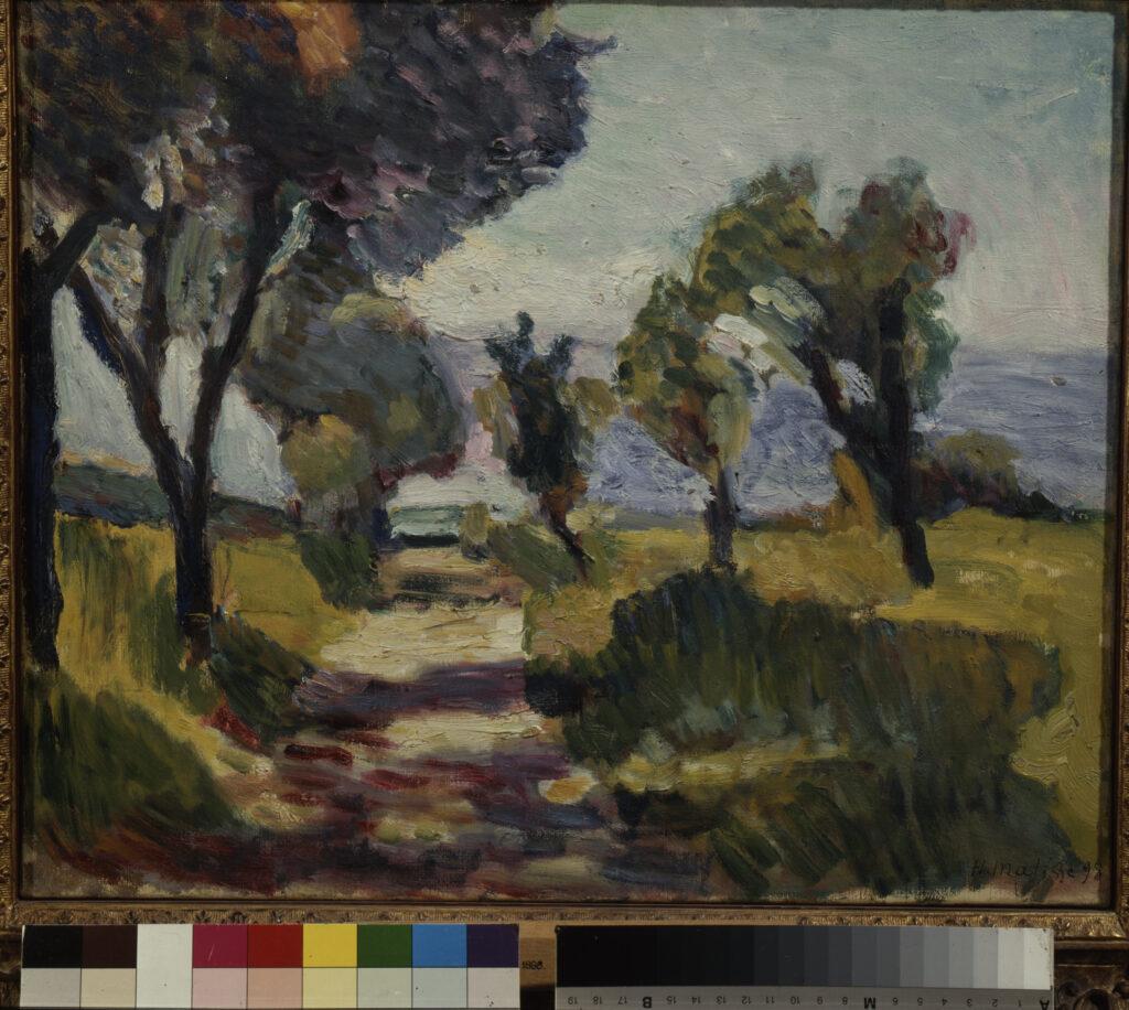 Exposition Matisse en Corse au Musée de la Corse - Paysage corse, oliviers