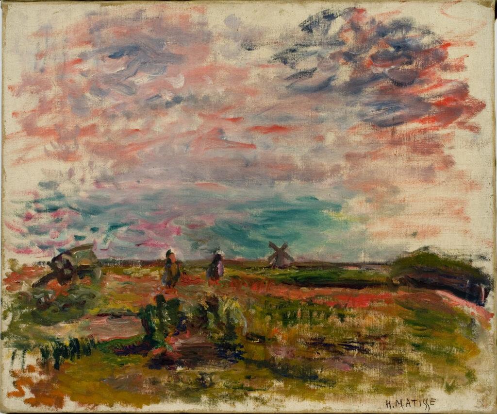 Exposition Matisse en Corse au Musée de la Corse - Paysage, moulin à vent