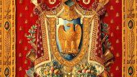 Exposition Palais disparus de Napoléon à la Galerie des Gobelins - Portière, Grandes armes de l'Empire français, Manufacture des Gobelins, 1811