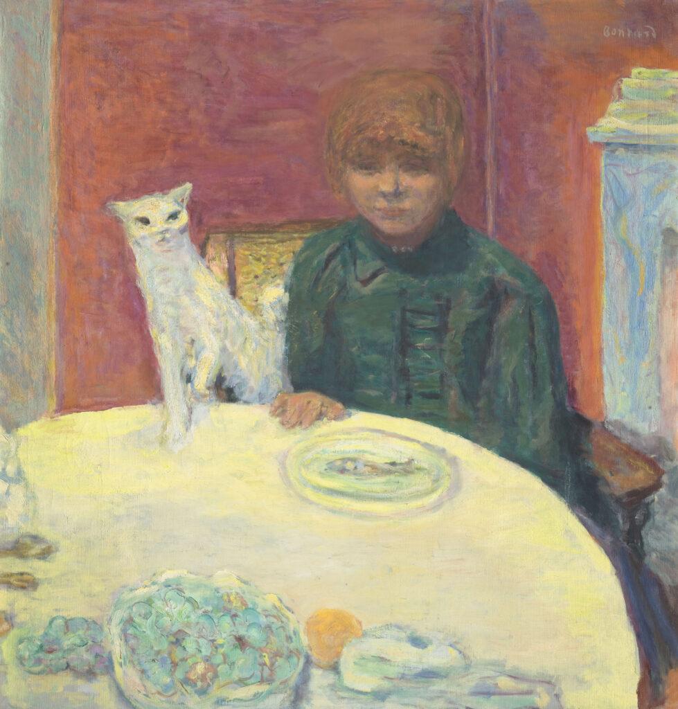 Pierre Bonnard, La femme au chat ou le chat exigeant, vers 1912