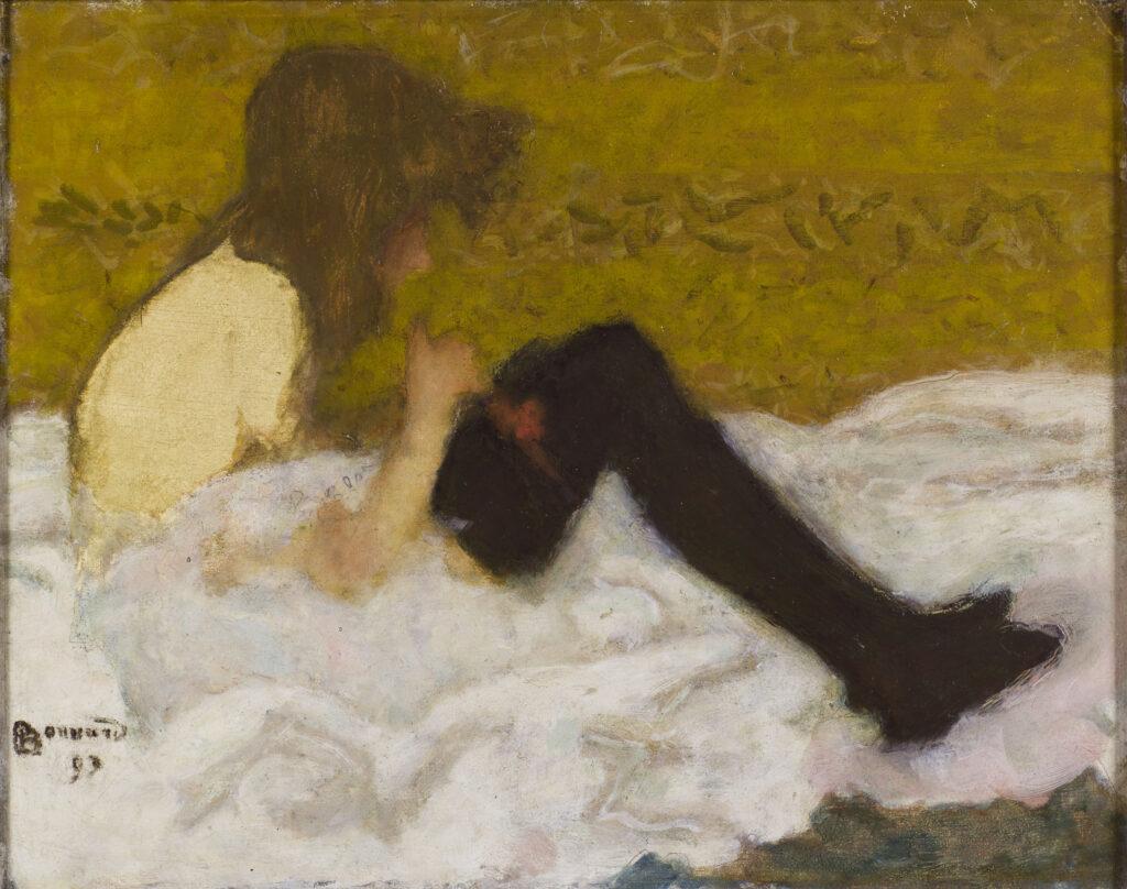 Pierre Bonnard, La jeune fille aux bas noirs, 1893