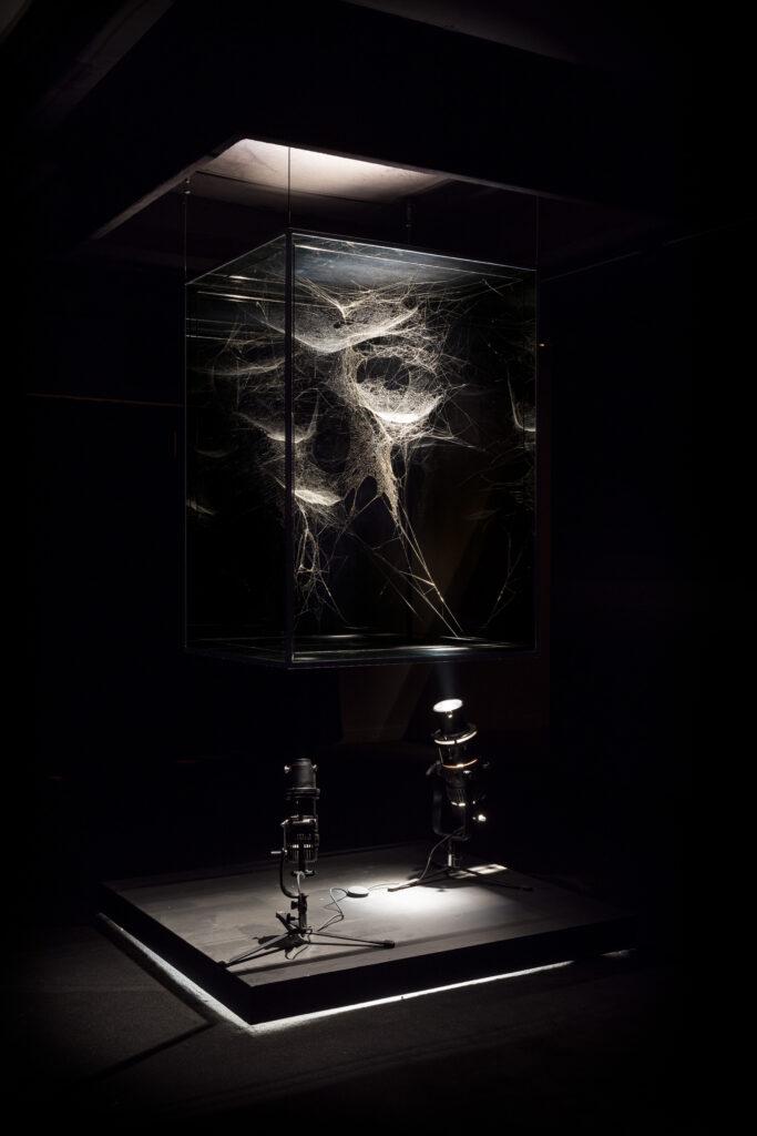 Vue de l'exposition Tomás Saraceno