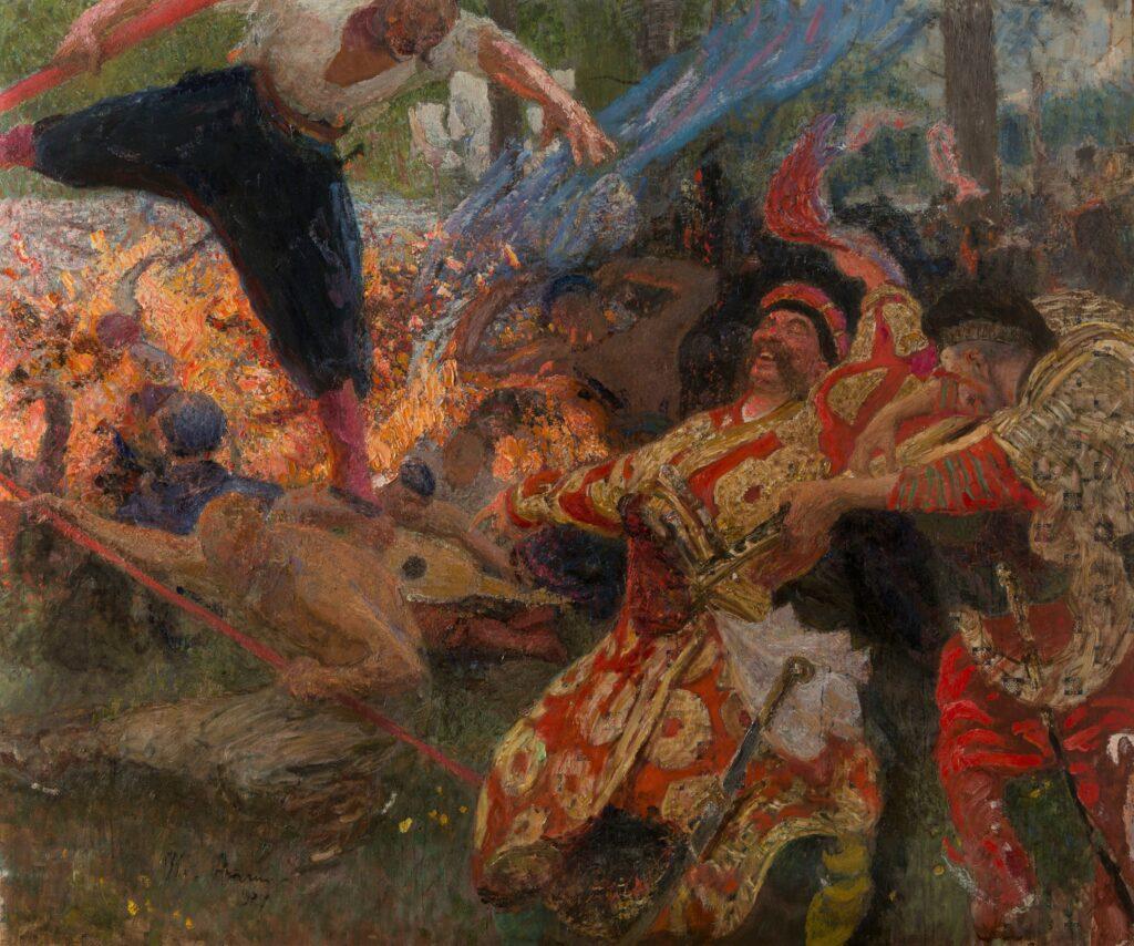 Ilya Répine, Le Gopak. Danse des cosaques zaporogues, 1926-1930