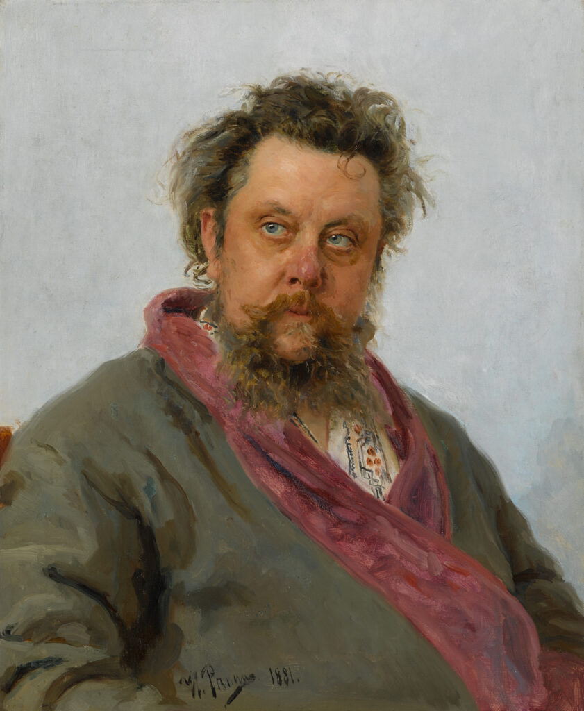 Ilya Répine, Portrait de Modeste Moussorgski, 1881
