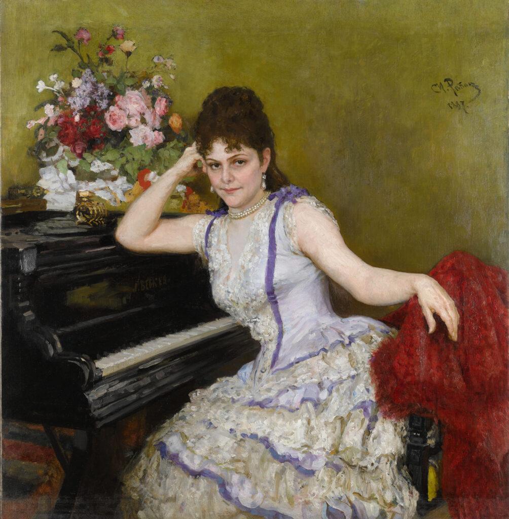 Ilya Répine, Portrait de Sophie Menter, 1887