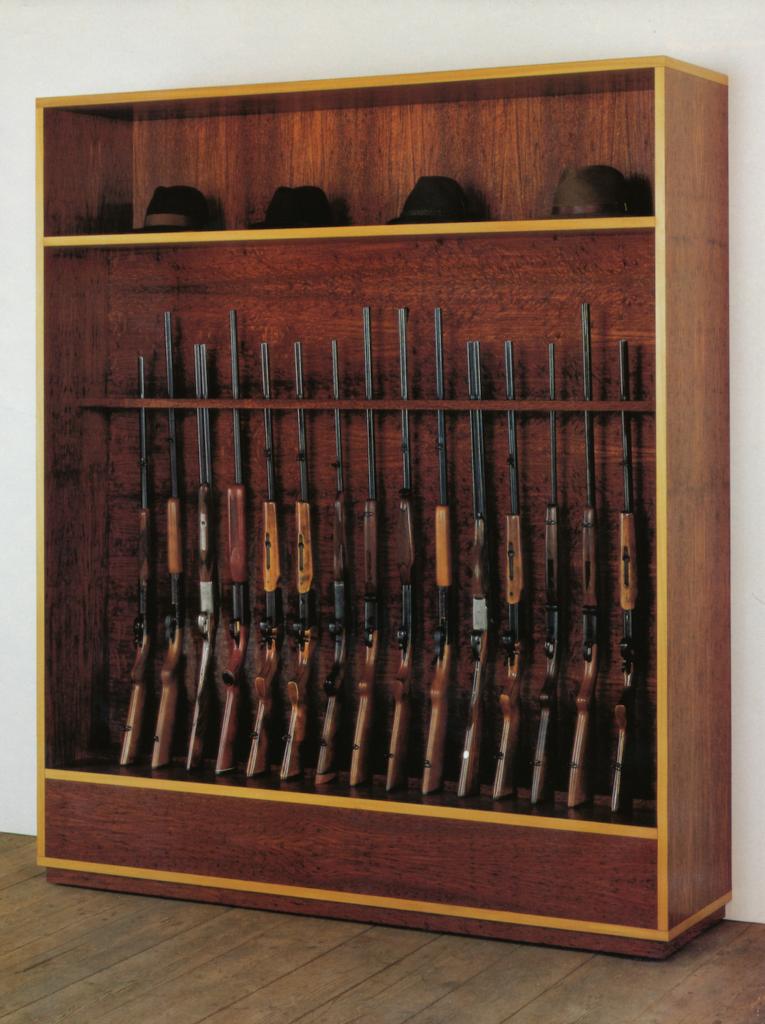 Haim Steinbach - Untitled (guns, hats)