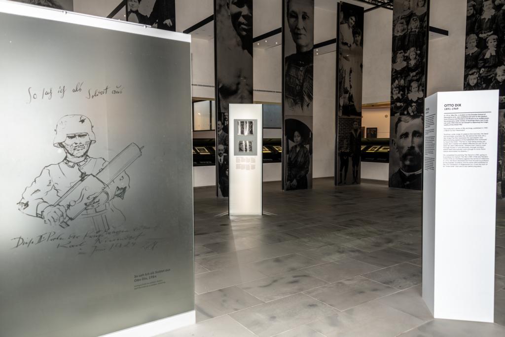 Historial de la Grande Guerre, vue de la Salle Otto Dix