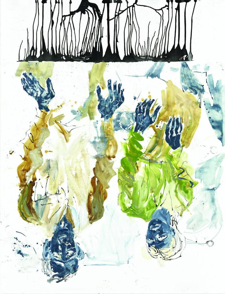 Georg Baselitz, In der Tasse gelesen, das heitere Gelb, 2010