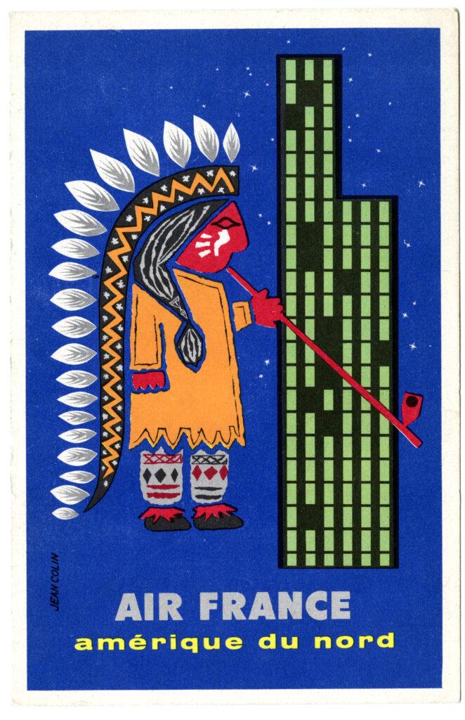 Sur la piste des Sioux, Publicité Air France, 1956