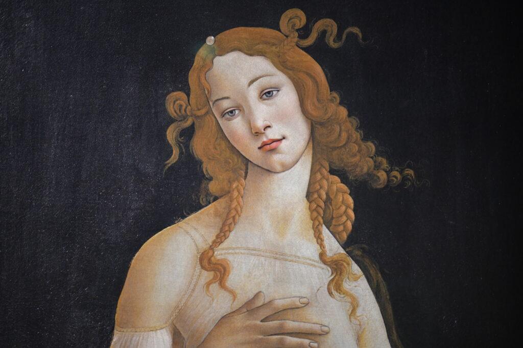 Vue de l'exposition Botticelli au Musee Jacquemart-André
