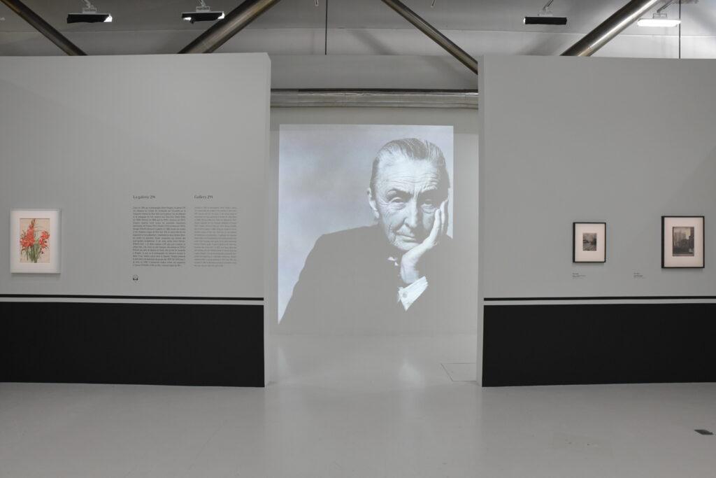 Vue de l'exposition Georgia O'Keeffe au Centre Pompidou