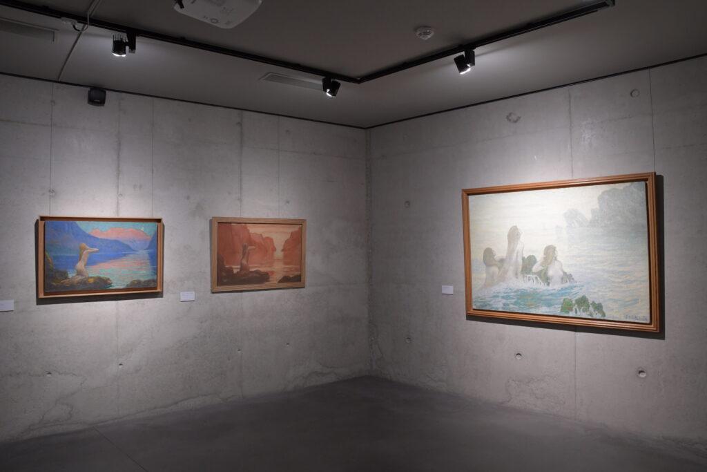 Vue de l'exposition Jean Francis Auburtin, Musée de Lodève