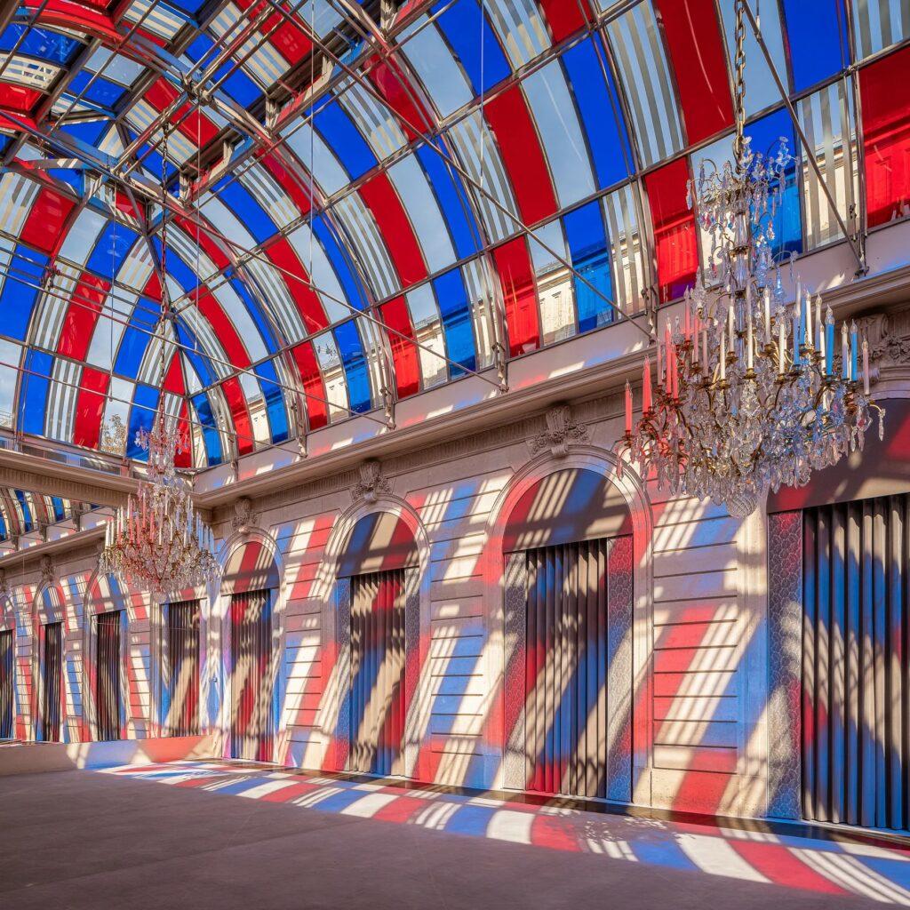 Daniel Buren au Palais de l'Elysée
