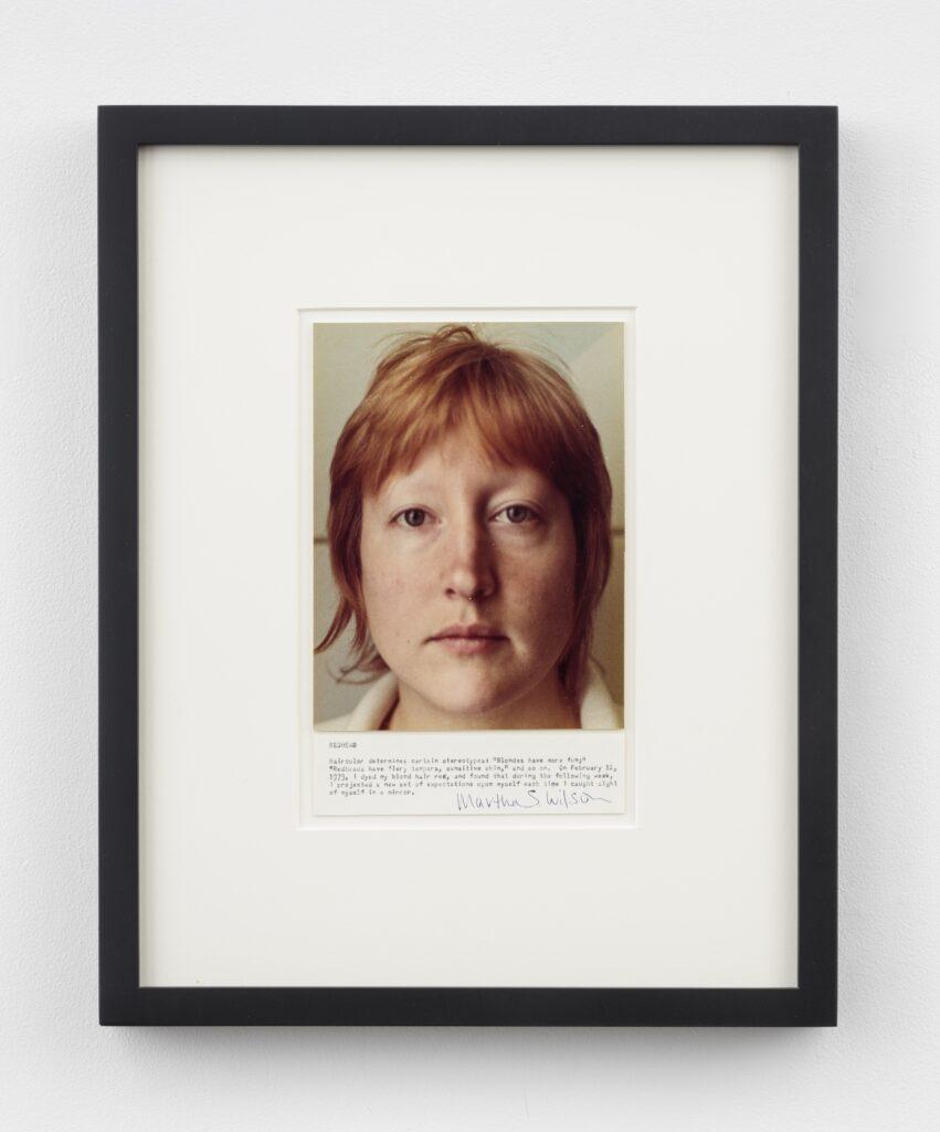 Martha Wilson, Red Head, 1973