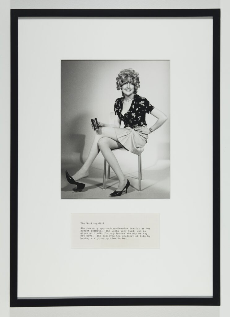 Martha Wilson, A Portfolio of Models, détail : The Working Girl, 1974