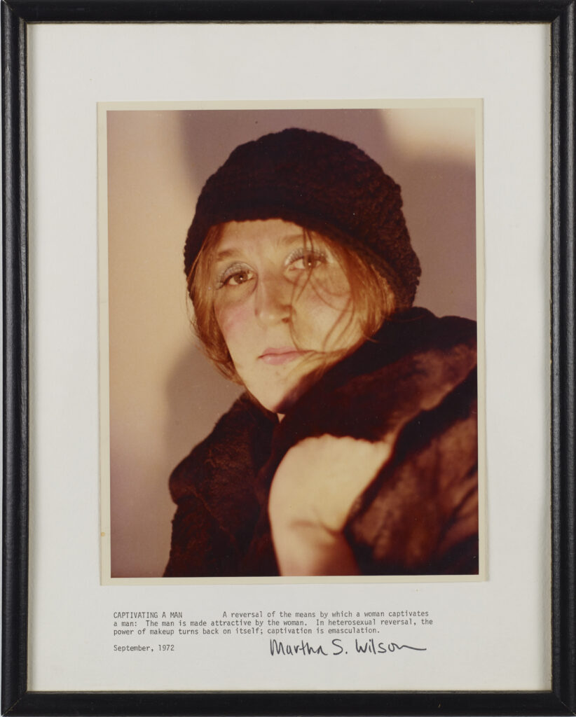 Martha Wilson, Captivating a Man, 1972