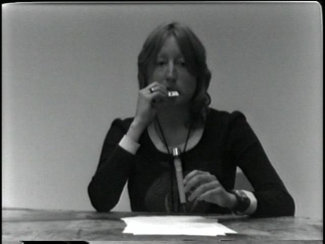 Martha Wilson, Art Sucks, 1972