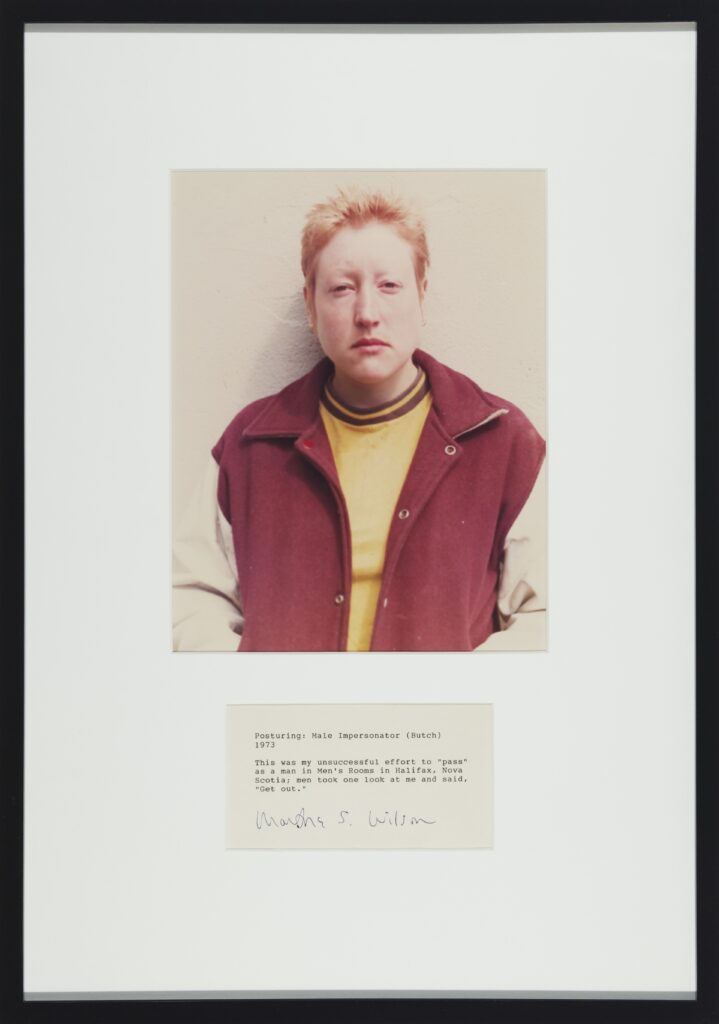 Martha Wilson, Posturing: Male Impersonator (Butch), 1973