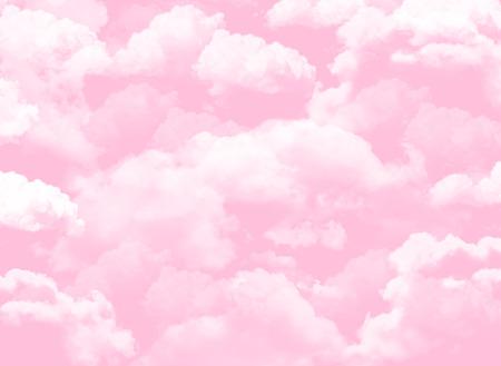 Nuages roses cottoneux