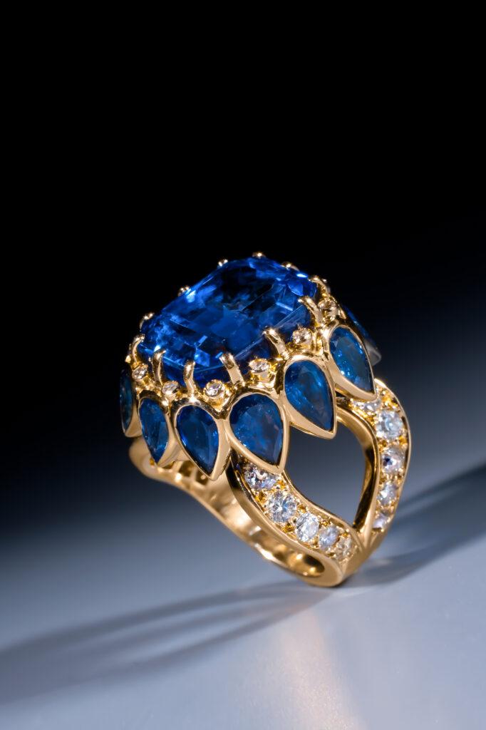 Bague en saphir et diamant, René Boivin
