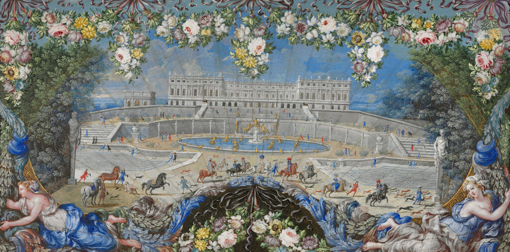 Château de Versailles, Henri Gascar, éventail