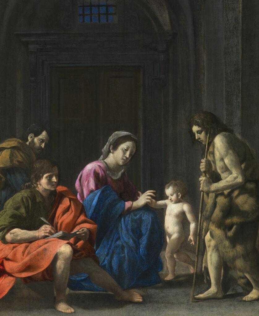 Giovanni Battista Caracciolo, Sainte famille avec Saint Jean-Baptiste et Saint Jean l'évangéliste