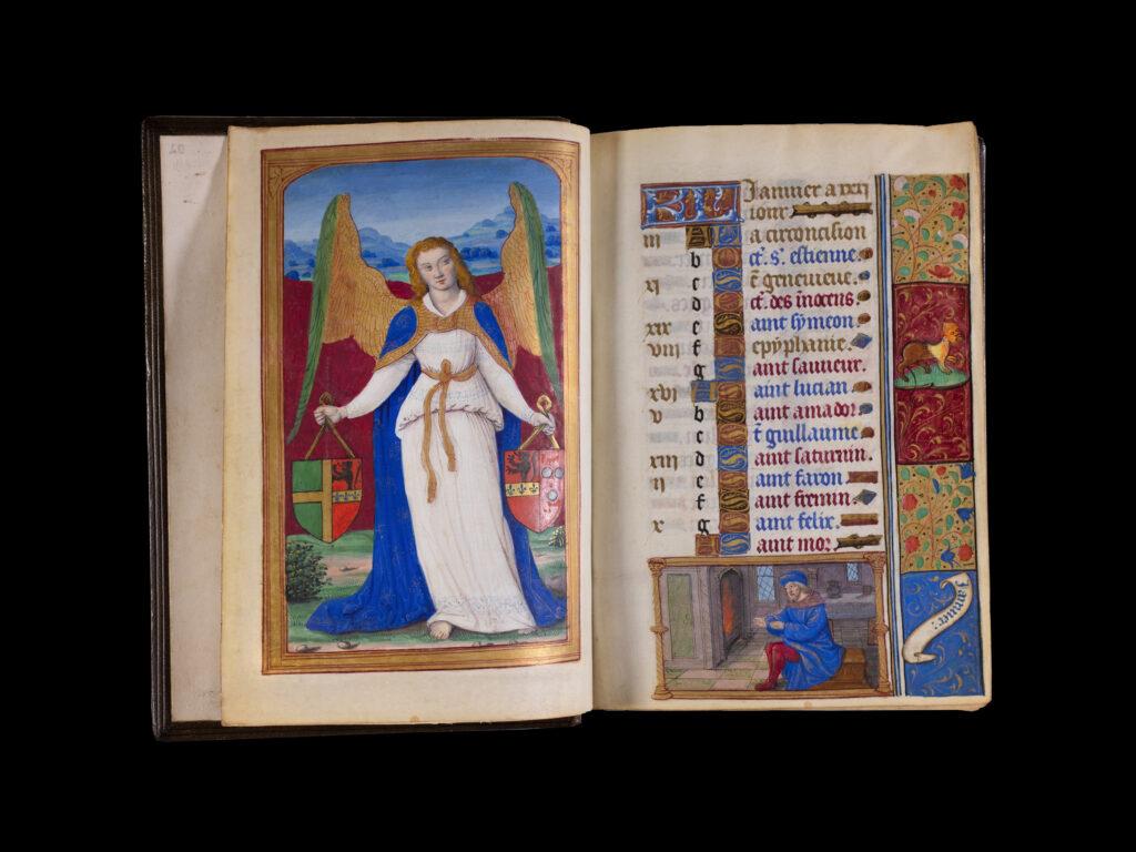 Francoise de Bellecomte, Manuscrit enluminé